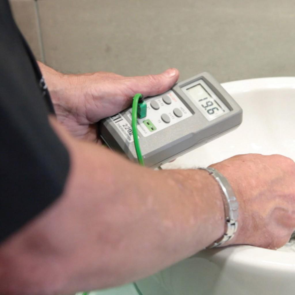 expertise ecgfs water hygiene test